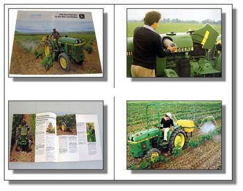 John Deere V + F Weinbau Traktor Schlepper Prospekt 85