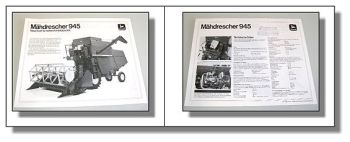 John Deere 945 Mähdrescher Prospekt 1975