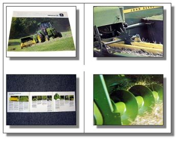 John Deere 330 Ballenpresse an JD 1140  Prospekt 1984