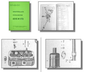 MAN 2K2 2K1 Ersatzteilliste für 8515 M172 Dieselmotor