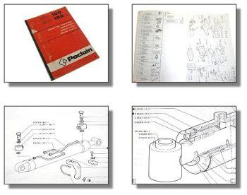 Poclain 115 Bagger Ersatzteilkatalog Parts Catalog 76
