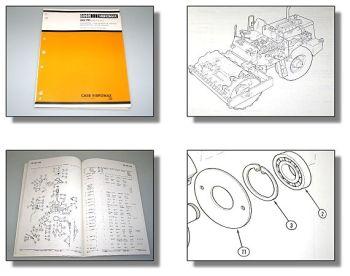 Case Vibromax 602 PD Walzenzug Ersatzteilliste Spare parts List