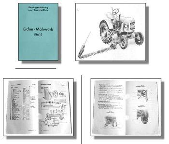 Eicher ED1 Montage & Ersatzteilliste Mähwerk EM15