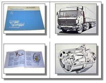 Mercedes Benz Schwerlastwagen Fahrerinformation 2028 2033 2233 6x2 6x4 6x6