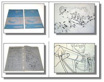 Mazda 121 DA Werkstatthandbuch Ergänzung Reparaturanleitung Schaltpläne 1989