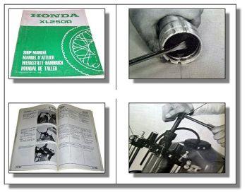 Honda XL 250 R Werkstatthandbuch Shop Manual Manuel datelier Manual de Taller