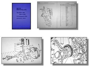 Eicher 3353 Ersatzteilliste Perkins AD4.203 Motor