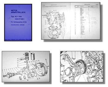 Eicher 3153 Ersatzteilliste Perkins A3.144 Motor