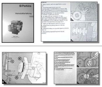 Werkstatthandbuch Perkins 700er Serie UA UB Motoren Reparaturhandbuch