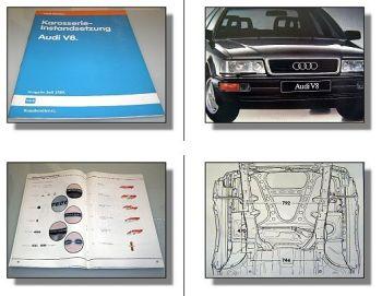 Reparaturleitfaden Audi V8 Werkstatthandbuch Karosserie Instands