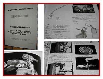 IHC 353 - 1046 IHC Werkstatthandbuch Motor 1971