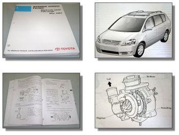 Toyota Avensis Verso Picnic ACM CLM Merkmale Werkstatthandbuch ab 2001