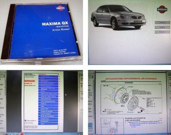 Nissan Maxima QX A33 Werkstatthandbuch 2000 Original CD