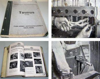 Werkstatthandbuch Ford Taunus 1,2 Liter Reparaturanleitung 1939/