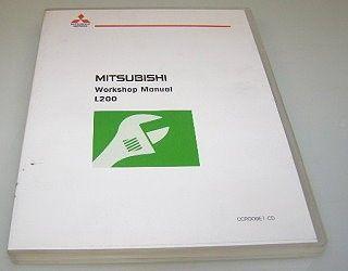 Mitsubishi L200 KA4T KB4T 2009 Werkstatthandbuch 2 CDs Reparaturanleitung
