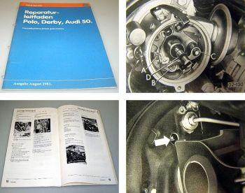 VW Polo Derby Audi 50 Instandhaltung Service Werkstatthandbuch 1975 - 1981