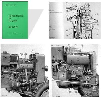 MAN B18A/1, 2K1 Bedienungsanleitung 8515 M172 Motor