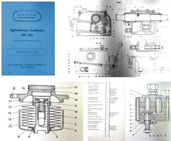 MAN AS718A B18A hydraulischer Kraftheber BM500 Ersatzteilliste