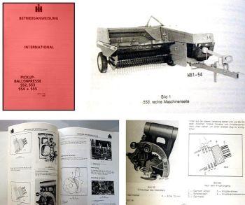 IHC 552 553 554 555 Ballenpresse Betriebsanleitung