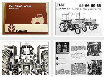 Fiat 55-66, 60-66 + DT Allrad Traktor Betriebsanleitung