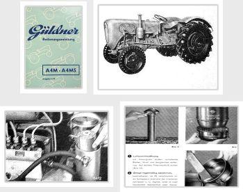 Güldner A4M A4MS Toledo Schlepper Bedienung Betriebsanleitung