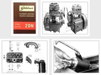 Güldner 2DN Motor Bedienung Wartung Ersatzteilliste