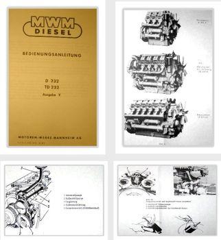 MWM D232 TD232 6/8/12-Zylinder Bedienung & Reparatur