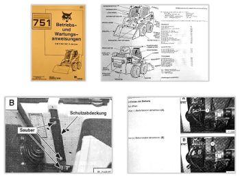 Bobcat 751 Lader Betriebsanleitung & Wartung