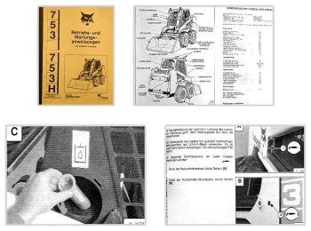 Bobcat 753 753H Lader Betriebsanleitung & Wartung 1997