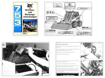 Bobcat 753 Lader Betriebsanleitung & Wartung 1991