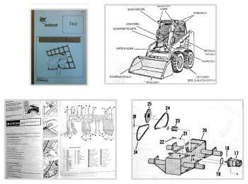 Bobcat 743 Lader Betriebsanleitung & Wartung