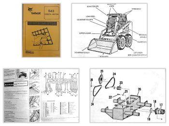 Bobcat 543 Lader Betriebsanleitung & Wartungsarbeiten