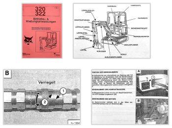 Bobcat 320 322 Bagger Betriebsanleitung & Wartung