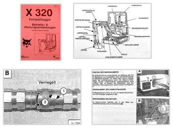 Bobcat X320 Bagger Betriebsanleitung & Wartung 1998