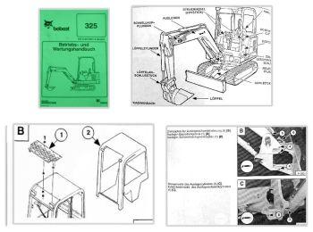 Bobcat 325 Bagger Betriebsanleitung & Wartung