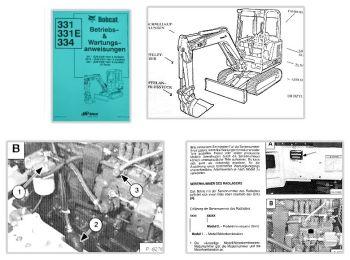 Bobcat 331 331E 334 Bagger Betriebsanleitung & Wartung