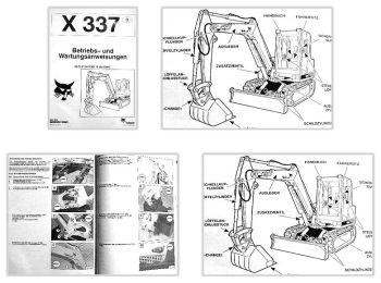 Bobcat X337 Bagger Betriebsanleitung & Wartung