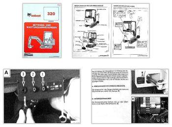 Bobcat 320 Hydraulikbagger Betriebsanleitung & Wartung