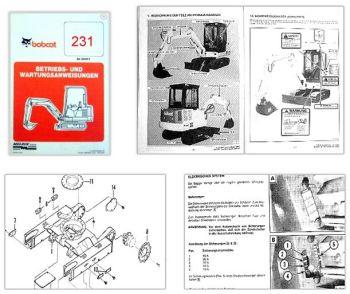 Bobcat 231 Kompaktbagger Betriebsanleitung & Wartung