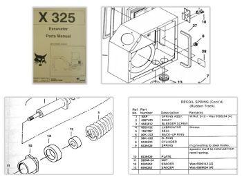 Bobcat X325 Excavator Parts Manual Ersatzteilkatalog