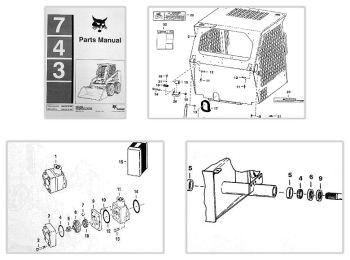 Bobcat 743 Loader Parts Manual Ersatzteilkatalog