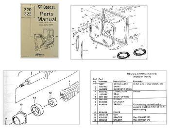 Bobcat 320 322 Excavator Parts Manual Ersatzteilkatalog