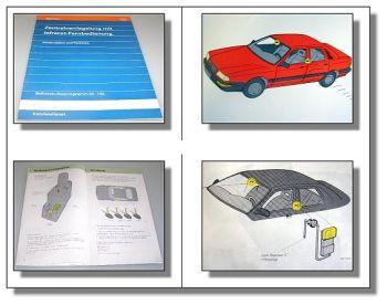 SSP 132 Zentralverriegelung Infrarot im Audi V8 / 100 Konstrukti