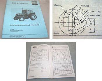 John Deere 1950 Ackerschlepper DLG Prüfbericht 1979