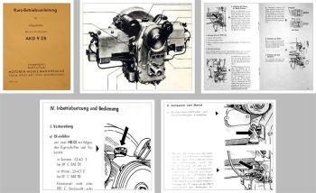 MWM AKD 9 ZB Boxermotor Betriebsanleitung 1958