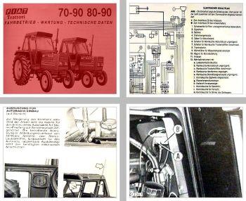 Fiat 70-90, 80-90 + DT Allrad Traktor Betriebsanleitung