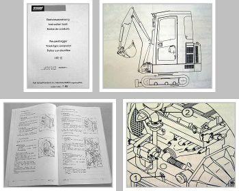 Schaeff HR12 Raupenbagger Betriebsanleitung 1995