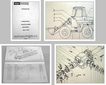 Ersatzteilkatalog Schaeff SKL 820 Knicklader Ersatzteilliste Parts List