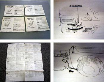 Honda GX120 GX160 Motor Bedienungsanleitung 1993