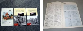 Schaeff HML 41 & HR 32, HR 11 Bagger technische Daten